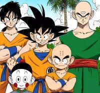 La Dragon Team au 23ème Tenka Ichi Budōkai (Gokū, Kuririn, Ten Shin Han, Yamcha et Chaozu)