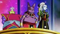 Huwa, Champa et Vados lors du match d'exhibition, dans l'anime