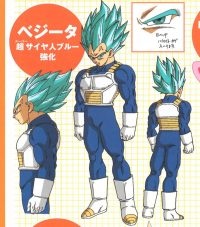 Character Design du SSGSS Evolution