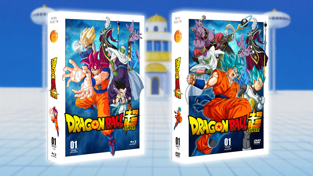 d tails des coffrets dvds blu rays de dragon ball super qui sortiront en france dragon ball. Black Bedroom Furniture Sets. Home Design Ideas