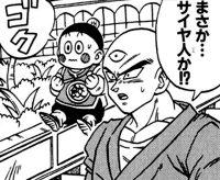 Ten Shin Han et Chaozu, dans le manga