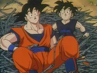 Son Gokū et Son Gohan apprennent l'existence du Destron Gas