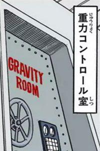 La porte de la Gravity Room