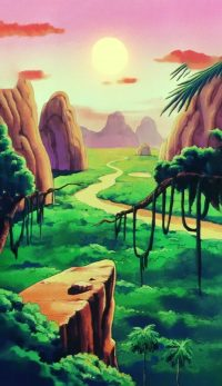 L'île Papaya, dans l'anime