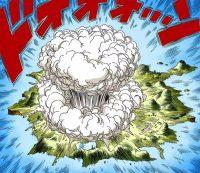Piccolo détruit en partie l'île Papaya