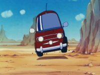 La voiture wagon, dans l'anime