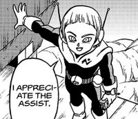 Merusu remercie Gokū pour son aide