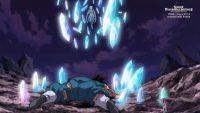 Lagss utilise son Glass Bullet sur Gokū