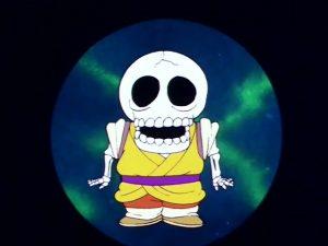 Le passage censuré, de Kuririn en squelette